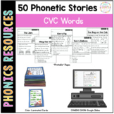 Phonics Reading Passages and Story Cards: Short Vowel Edition