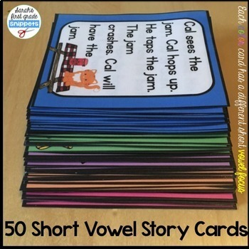 Phonics Decodable Passages and Story Cards: Short Vowel Edition