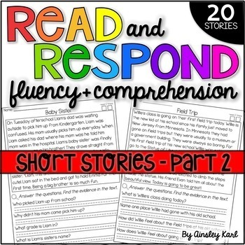 Phonics Reading Passages for Fluency & Comprehension Fictional Short Stories Pt2