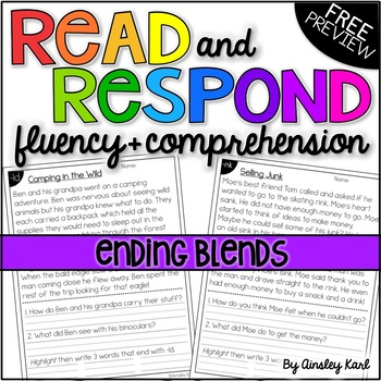 Phonics Reading Passages for Fluency and Comprehension - Ending Blends