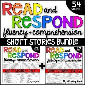 Phonics Reading Passages for Fluency and Comprehension - Short Stories BUNDLE