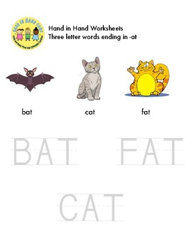 Phonics - Reading and Tracing Activity