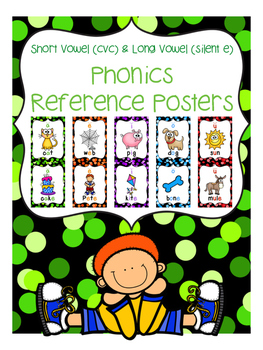 Phonics Reference Posters {short vowel cvc and long vowel cvce}