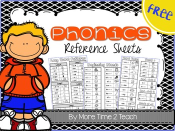 Phonics Reference Sheets {freebie}