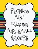 Phonics Remediation Small Group Assessments Teaching Chart