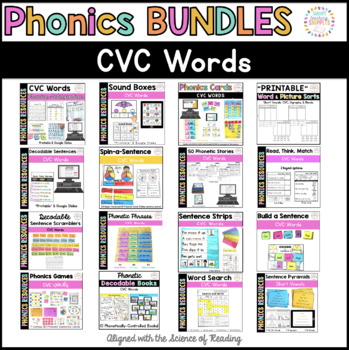 Phonics Resources: CVC Words BUNDLE