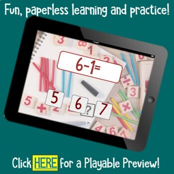 Brain Friendly Addition and Subtraction Level1 +1 Fact Families BOOM Cards