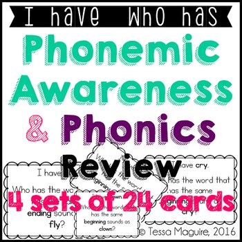 Phonics Review: I Have, Who Has