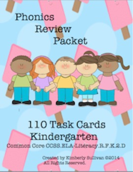 Sight Words Guided Reading Phonics Task Cards Common Core