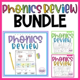 Phonics Review Morning Work 1st Grade Reading Passage and Comprehension BUNDLE