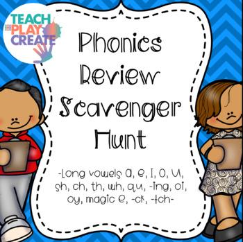 Phonics Review Scavenger Hunt
