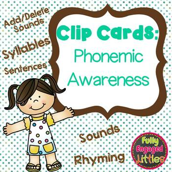 Syllables, Sounds, Rhyming- Phonics Clip Cards