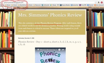 Phonics Review Videos on website