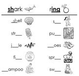 Phonics Review Worksheets... Distinguishing Digraphs, Blen