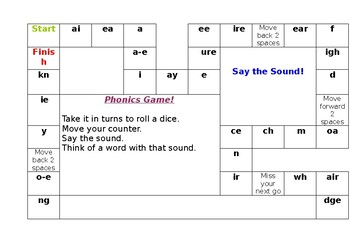 Phonics Revision Game