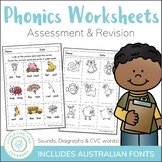 Phonics Worksheets and Assessment Packet - Prep and Foundation