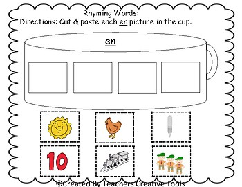 Phonics Rhyming Words