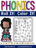 Phonics Roll It!  Color It!