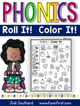 Phonics Roll It!  Color It!