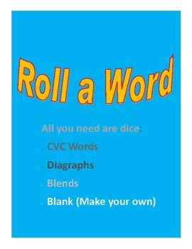 Phonics Roll a Word