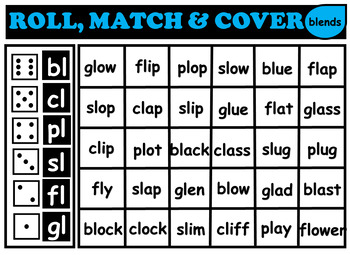 Phonics Roll and Match Game
