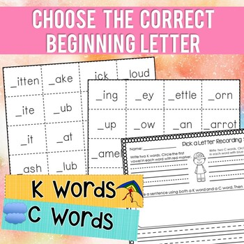 Phonics Rule: K and C {Word Work Centers}