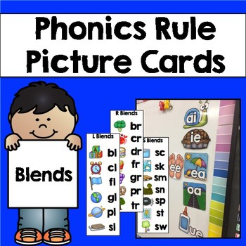 Phonics Rule Picture Cards & Bookmarks: Blends