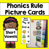 Phonics Rule Picture Cards & Bookmarks: Short Vowels