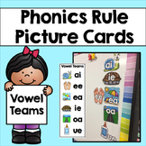 Phonics Rule Picture Cards & Bookmarks: Vowel Teams