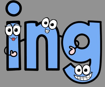 Phonics Rules 10 Clip Art (Common Endings)