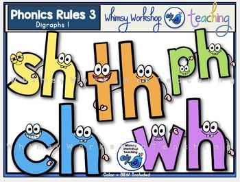 Phonics Rules 3 Clip Art (Digraphs 1)