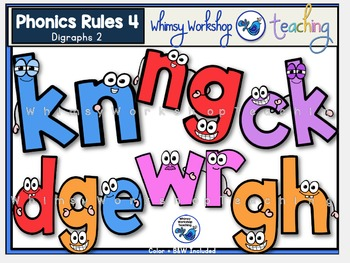 Phonics Rules 4 Clip Art (Digraphs 2)