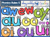 Phonics Rules 5 Clip Art (Dipthongs and Vowel Combinations)