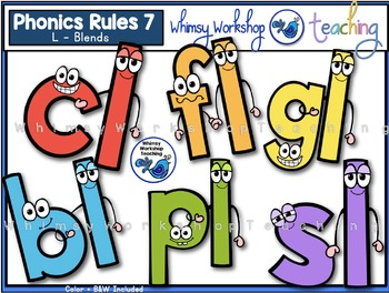 Phonics Rules 7 Clip Art (L Blends)