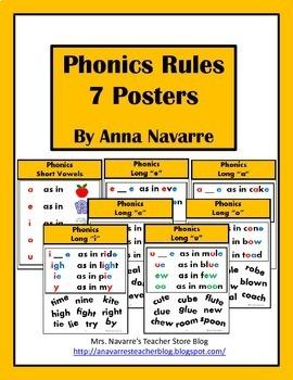 Phonics Rules - 7 Posters