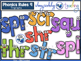 Phonics Rules 9 Clip Art (Trigraphs)
