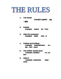 Phonics Rules Cheat Sheet for Multiple Syllable Words