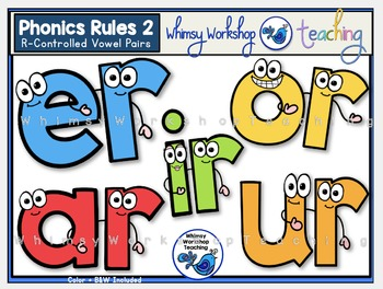 Phonics Rules 2 Clip Art - R Controlled Vowels