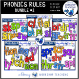 Phonics Rules Clip Art Bundle 2 (5 Complete Sets)