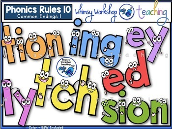 Phonics Rules Clip Art Bundle 2 (5 Complete Sets)