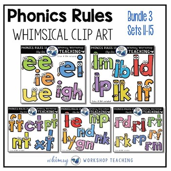 Phonics Rules Clip Art Bundle 3 5 Complete Sets By
