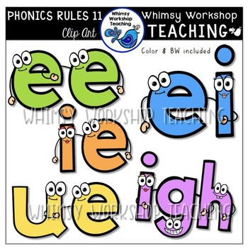 Phonics Rules Clip Art Bundle 3 (5 Complete Sets)