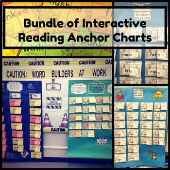 Phonics Rules Interactive Anchor Charts~Magic E, Suffix -ED, Long/Short Vowels