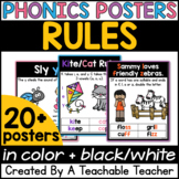 Phonics Posters for Phonics Rules and Generalizations