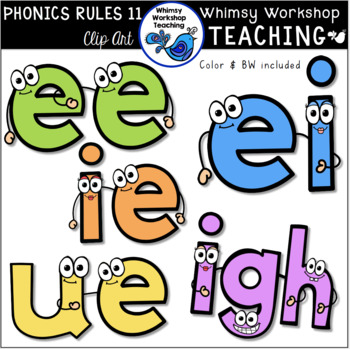 Phonics Rules SET 11 Clip Art (from Bundle 3)