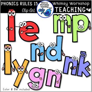 Phonics Rules SET 15 Clip Art (from Bundle 3)