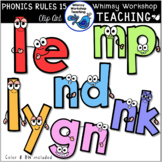 Phonics Rules SET 15 Clip Art (from Bundle 3)