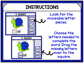 Phonics S- Blends Building Words Activity for Google Drive and Google Classroom