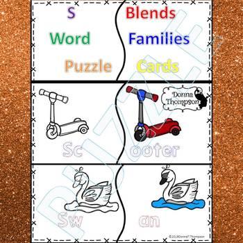 "Phonics ""S Blends"" (Puzzle Cards)"