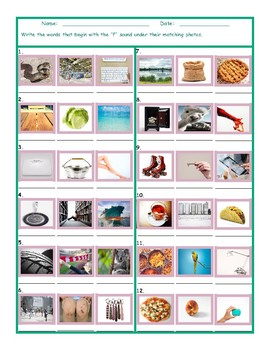 Phonics S Sound Photo Worksheet